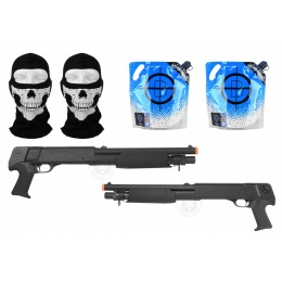 AMS Zombie Package DE Airsoft 2X M3 Shell-Fed Sawed Off Shotguns