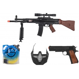 AMS Zombie Package: HUNTER Kit w/ Airsoft Spring Rifle w/ Bipod, Scope, Laser