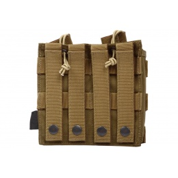 Flyye Industries 1000D MOLLE EV Double Magazine Pouch - COYOTE BROWN