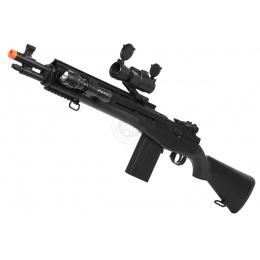 TSD M14 RIS M116 Series Spring Sniper Rifle w/ Scope - BLACK