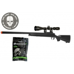 AGM VSR-10 Bolt Action Sniper Rifle w/ 3-9x40 Rifle Scope - BLACK