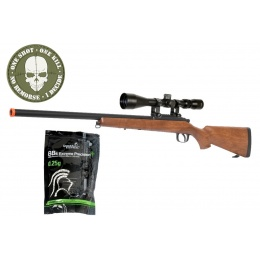 AGM VSR-10 Bolt Action Sniper Rifle w/ 3-9x40 Scope - WOOD
