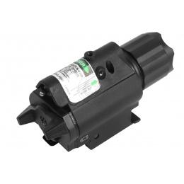 NcStar Airsoft Quick Release 150 Lumen Flashlight Green Laser Combo