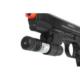 NcStar Airsoft Slim Line Rail Mount Green Laser Sight