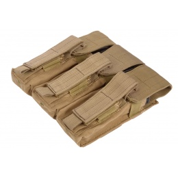 Condor Outdoor Tactical MOLLE Triple AK Magazine Kangaroo Pouch - TAN