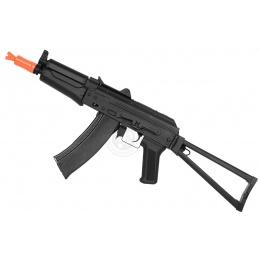 420 FPS DBoys AK-74U AEG Rifle w/ Skeleton Stock - BLACK