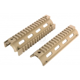 AIM Sports 6.5-Inch M4A1 Carbine Length Drop-In Quad Rail - TAN