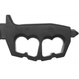 Cold Steel Trench Knife Double Edge Trainer w/ Knuckle Guard - BLACK