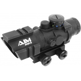 AIM Sports 4x32 Tri-Illuminated Combat Rifle Scope w/ Tri-Weaver Rails