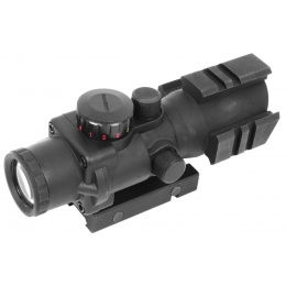 AIM Sports 4x32 Tri-Illuminated Combat Rifle Scope w/ Tri-Weaver Rails