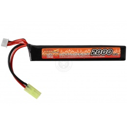 VB-Power Airsoft 11.1V 15C LIPO Wide Stick AEG Battery - 2000 mAh
