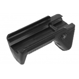 APS Airsoft Polymer Dynamic Hand Stop Angled Fore Grip - BLACK