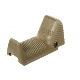 APS Airsoft Dynamic Hand Stop Angled Fore Grip - DARK EARTH