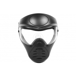 Hakkotsu Airsoft Alone Full Face Mask w/ Anti-Fog Clear Lens - BLACK