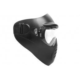 Hakkotsu Airsoft Alone Full Face Mask w/ Anti-Fog Clear Lens - BLACK