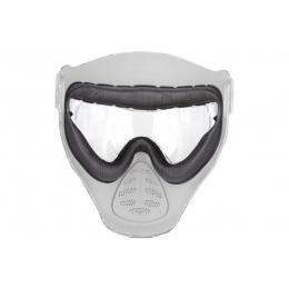 Hakkotsu Airsoft Alone Full Face Mask w/ Anti-Fog Clear Lens - ACU