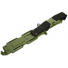 G-Force Army M9 Training Knife Bayonet w/ Heavy Duty Sheath - GREEN