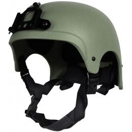 G-Force High Cut IBH Airsoft Helmet w/ NVG Shroud - OD GREEN
