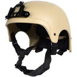 G-Force High Cut IBH Airsoft Helmet w/ NVG Shroud - TAN