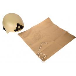 G-Force High Cut IBH Airsoft Helmet w/ NVG Shroud - TAN