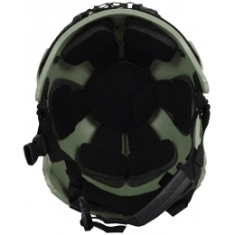 G-Force Tactical IBH Airsoft Helmet w/ NVG Shroud & Side Rails - OD