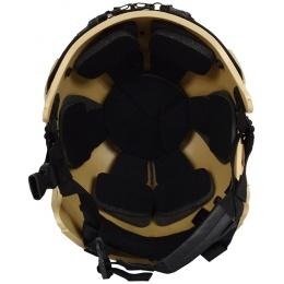 G-Force Tactical IBH Airsoft Helmet w/ NVG Shroud & Side Rails - TAN