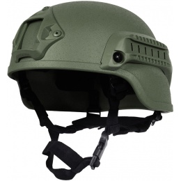 G-Force MICH 2000 Replica Helmet w/ Side Adapter Accessory Rails - OD