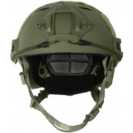 G-Force Tactical Operator BUMP Helmet w/ Side Accessory Rails - OD