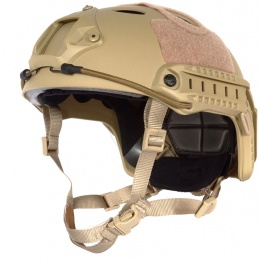 G-Force Tactical Operator BUMP Helmet w/ Side Accessory Rails - TAN