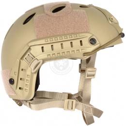 G-Force Tactical Operator BUMP Helmet w/ Side Accessory Rails - TAN