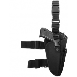 FDG ELITE Tactical Pistol Drop Leg Holster - BLACK - Right Handed