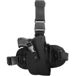 FDG ELITE Tactical Drop Leg Holster - BLACK - RIGHT HANDED