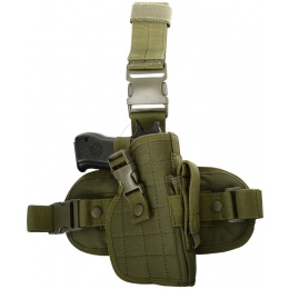 FDG ELITE Tactical Drop Leg Holster - OD - RIGHT HANDED