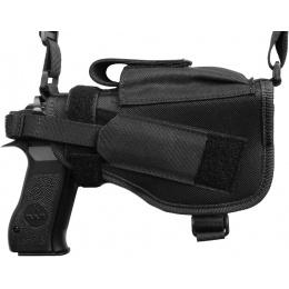 FDG ULTIMATE Tactical Pistol Shoulder Holster - BLACK - RIGHT HANDED