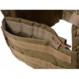 Flyye Industries MOLLE Navy Cut Plate Carrier - COYOTE BROWN