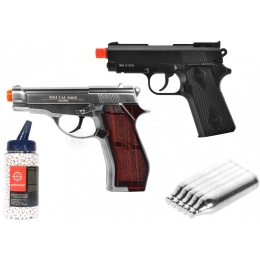 Value CO2 Package: WG & WELL Non-Blowback CO2 Target Pistols