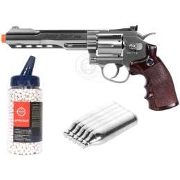 Value CO2 Package: WG Sport M702S Compact CO2 Revolver Airsoft Pistol