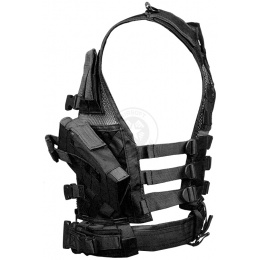 NcStar Youth Cross Draw Tactical Vest w/ Integrated Holster - BLACK