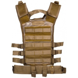 NcStar Youth Cross Draw Tactical Vest w/ Integrated Holster - TAN