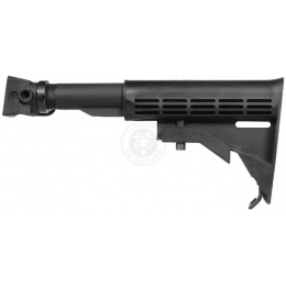 CYMA C56 6-Position AK Airsoft LE Stock w/ QD Sling Mount - BLACK