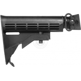 CYMA C56 6-Position AK Airsoft LE Stock w/ QD Sling Mount - BLACK