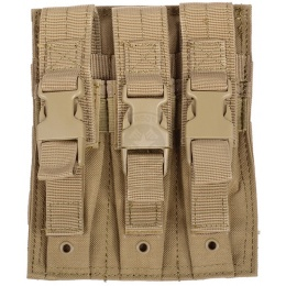 Condor Outdoor MA37 MOLLE Triple MP5 / M5 Magazine Pouch - TAN