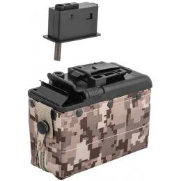 Classic Army M249 Auto-Winding 1200rd Airsoft Box Magazine - DESERT