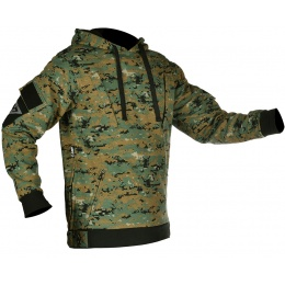 Cast Gear Pullover Hoodie w/ Hook and Loop Panels - WOODLAND MARPAT
