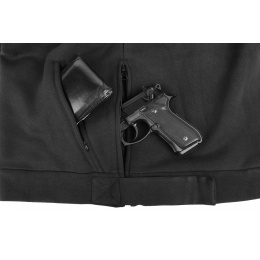 Cast Gear Tactical Pullover Hoodie w/ Hook and Loop Panels - BLACK