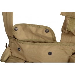 Condor Outdoor Tactical 7 Pocket Chest Rig w/ Radio Pouch - TAN
