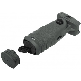 MFT Mission First Tactical React Folding Vertical Grip - FOLIAGE