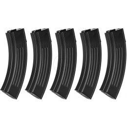 5X King Arms 100rd M16 AK Airsoft Mid-Capacity AEG Magazines