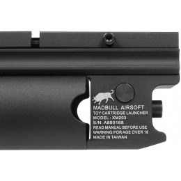 Madbull Airsoft XM203 40mm Rail Mounted Long Type Grenade Launcher