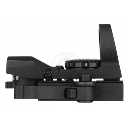 NcStar Red Rogue 4-Reticle Panorama Sight w/ QR Mount